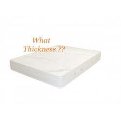 What is the recommended mattress thickness for our bunk beds?